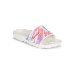 Crocs CLASSIC CROCS TIEDYE GRPHC SLD Weiss / Multicolor