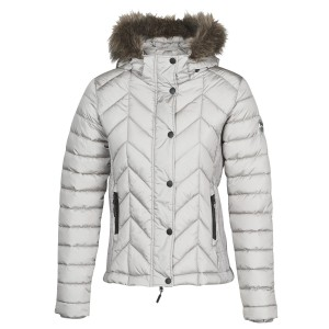 Superdry LUXE FUJI PADDED JACKET Silbern