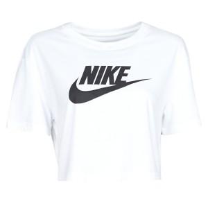 Nike W NSW TEE ESSNTL CRP ICN FTR Weiss / Schwarz
